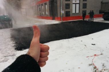 ОНФ просит граждан сообщать о фактах укладки асфальта в снег и дождь