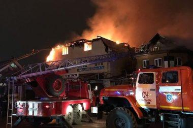 В Нальчике горел магазин