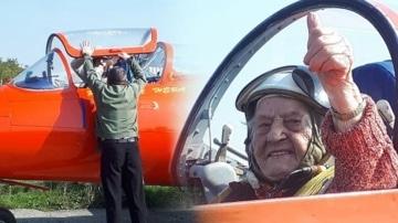 99-летняя ветеран ВОВ совершила полет над Кавказзским хребтом на военном реактивном самолете